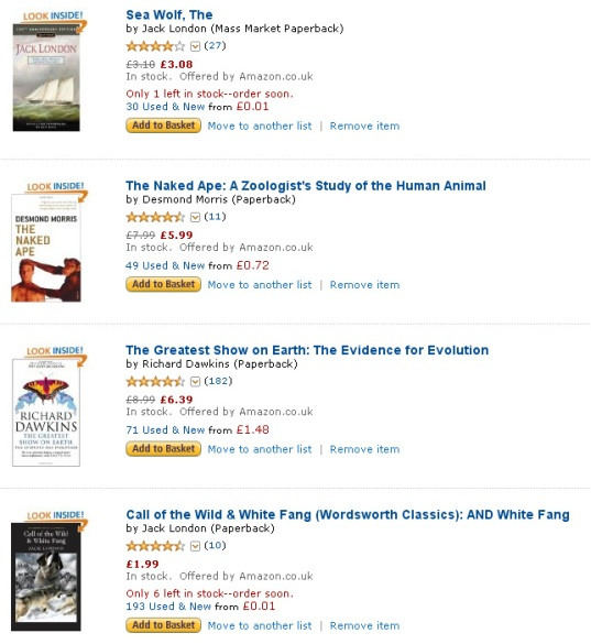 Greenwise Reading List on Amazon