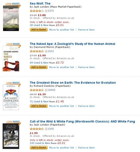 Greenwise Reading List on Amazon