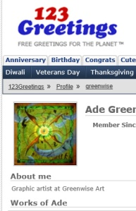 Preview of Greenwise Profile on 123Greetings ecards