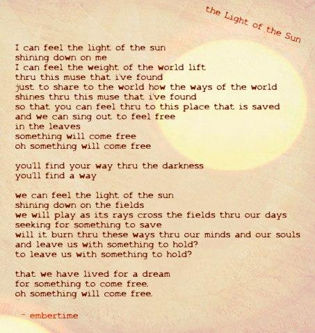 lyrics to embertime song