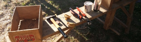 image of tools on workbench