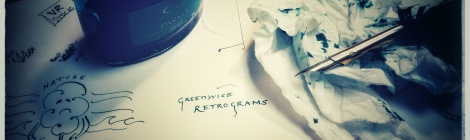 inky writing 'Retrograms'
