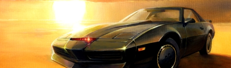tribute art to knight rider
