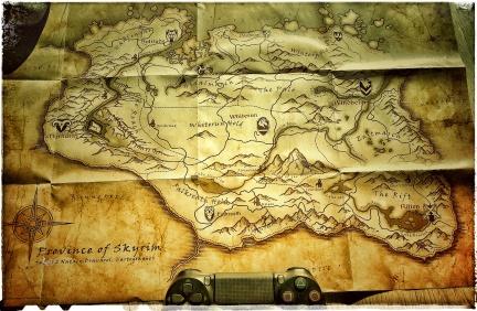 ye olde mappe of Skyrim