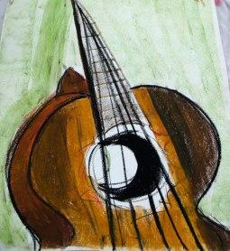 impression of guitar