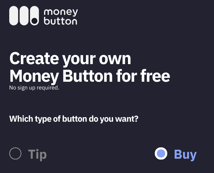 Money Button logo and tool