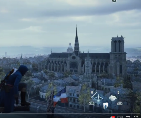 screenshot of Notre Dame in Assassin's Creed Unity