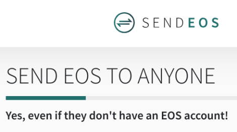 Screenshot of SendEOS website
