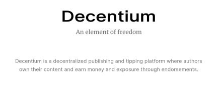 logo for Decentium.org blogger