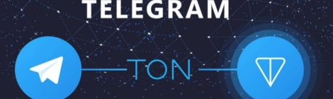 logos of Telegram and TON