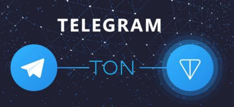 logos of Telegram and TON