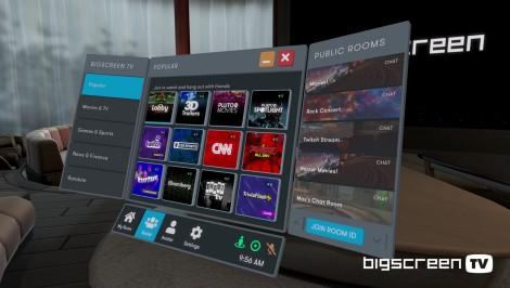 Bigscreen UI at Ade's Press
