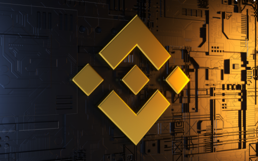 shiny gold logo for Binance exchange