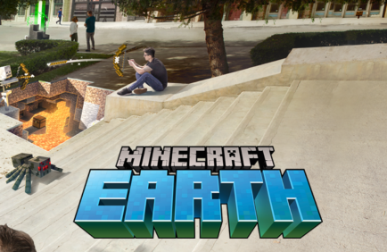 Logo promo image for Minecraft Earth