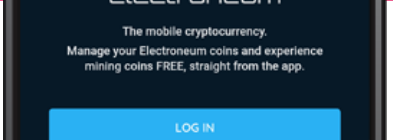 image of Electroneum's mining app smartphone