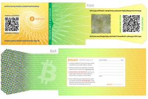 sample of Bitcoin Paper Wallet (adespress)