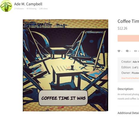 photo art image of beachfront coffee scene