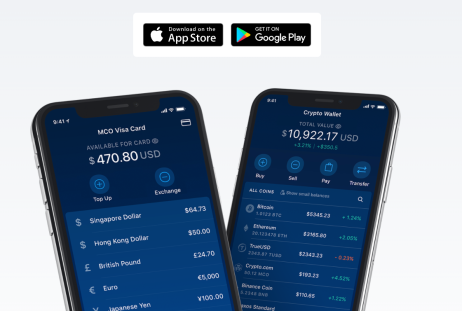 example of Crypto.com mobile app